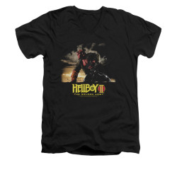 Image for Hellboy II V-Neck T-Shirt - Poster Art