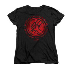 Image for Hellboy II Woman's T-Shirt - BPRD Logo