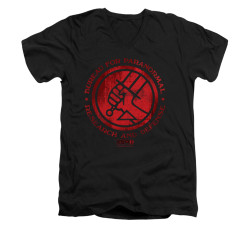 Image for Hellboy II V-Neck T-Shirt - BPRD Logo