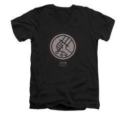 Image for Hellboy II V-Neck T-Shirt - Mignola Style Logo