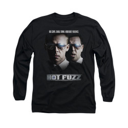 Image for Hot Fuzz Long Sleeve T-Shirt - Big Cops