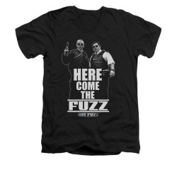 Image for Hot Fuzz V-Neck T-Shirt - Here Comes the Fuzz