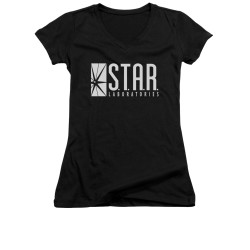 Image for Flash TV Show Girls V Neck T-Shirt - S.T.A.R. Laboratories