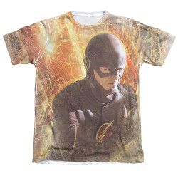 Image Closeup for Flash TV Show Sublimated T-Shirt - Flash Town