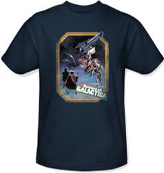 Image Closeup for Classic Battlestar Galactica T-Shirt - Retro Poster