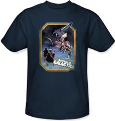 Classic Battlestar Galactica T-Shirt - Retro Poster