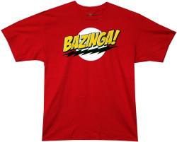 Big Bang Theory Bazinga no Face T-Shirt