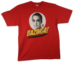 Image Closeup for Big Bang Theory Bazinga T-Shirt
