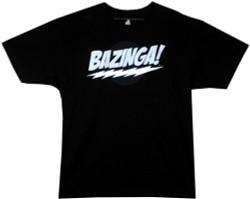 Image Closeup for Big Bang Bazinga! Black T-Shirt