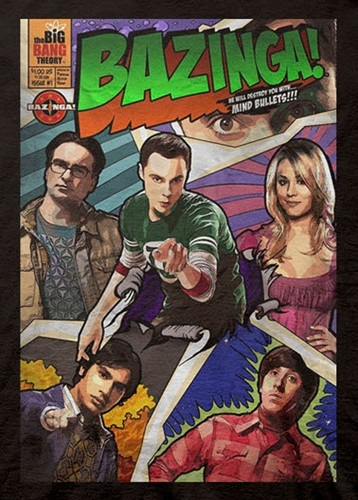Image for Big Bang Theory Bazinga Comic Book T-Shirt