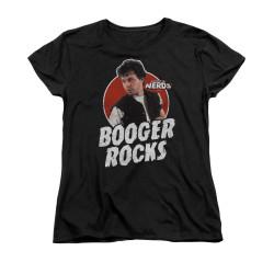 Image for Revenge of the Nerds Woman's T-Shirt - Booger Rocks