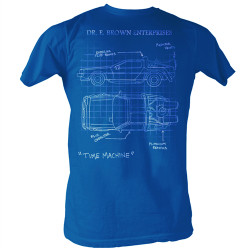 Image Closeup for Back to the Future Time Machine Schematic T-Shirt
