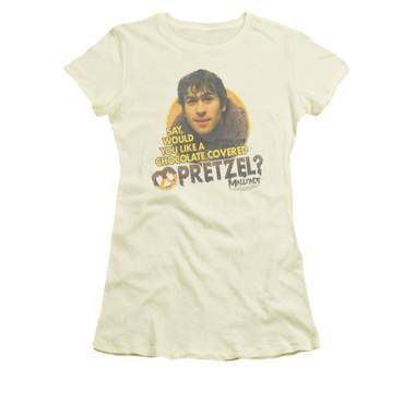 Image for Mallrats Girls T-Shirt - Pretzels