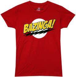 Image Closeup for Big Bang Theory Bazinga Girls T-Shirt