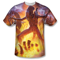 Image for Alien Sublimated T-Shirt - LIghting and Fire 100% Polyester
