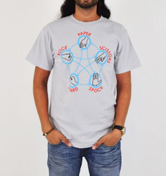 Big Bang Rock Paper Scissors Lizard Spock T-Shirt