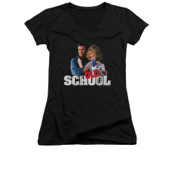 Image for Old School Girls V Neck T-Shirt - Frank and Friend