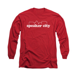 Image for Old School Long Sleeve T-Shirt - Speaker City Logo