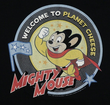 Image for Mighty Mouse Welcome to Planet Cheese T-Shirt