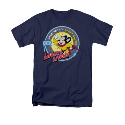Image Closeup for Mighty Mouse Welcome to Planet Cheese T-Shirt