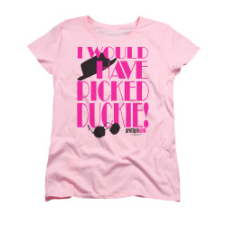 Image for Pretty in Pink Woman's T-Shirt - Picked Duckie