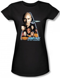 Image for Star Trek the Next Generation Girls T-Shirt - Crew