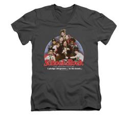 Image for School of Rock V-Neck T-Shirt - I Pledge Allegiance