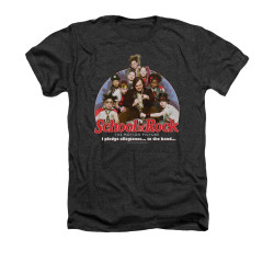Image for School of Rock Heather T-Shirt - I Pledge Allegiance