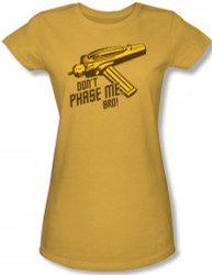 Image for Star Trek Girls T-Shirt - Don't Phase Me, Bro