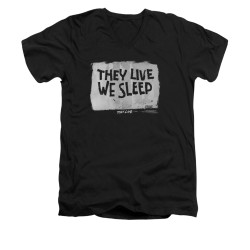Image for They Live V-Neck T-Shirt - We Sleep
