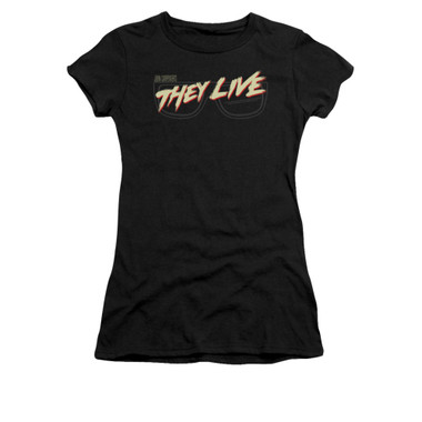 Image for They Live Girls T-Shirt - Glasses Logo