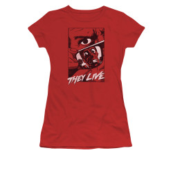 Image for They Live Girls T-Shirt - Graphic Poster