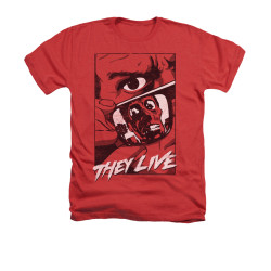 Image for They Live Heather T-Shirt - Graphic Poster