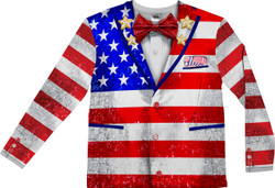 Image for American Tuxedo Costume Sublimated T-Shirt