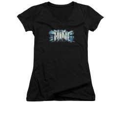 Image for The Thing Girls V Neck T-Shirt - Classic Logo