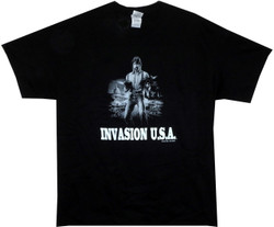 Image for Invasion USA T-Shirt - Twin Gun Chuck