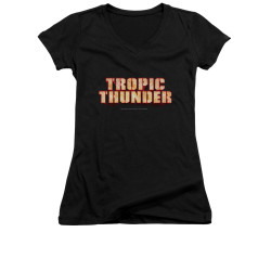 Image for Tropic Thunder Girls V Neck T-Shirt - Title
