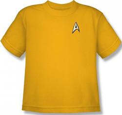 Image for Star Trek Uniform Youth T-Shirt - Command