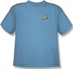 Image for Star Trek Uniform Youth T-Shirt - Science