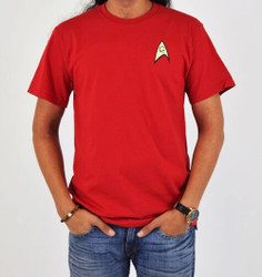 Image Closeup for Star Trek Uniform T-Shirt - Engineering