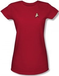 Image for Star Trek Uniform Girls T-Shirt - Engineering