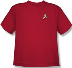 Image for Star Trek Uniform Youth T-Shirt - Engineering