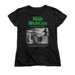 Image for War of the Worlds Woman's T-Shirt - Attack People Poster