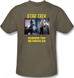 Image Closeup for Star Trek Episode T-Shirt - Episode 76 Requiem for Methuselah