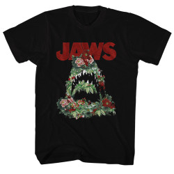 Image for Jaws T-Shirt - Floral Shark