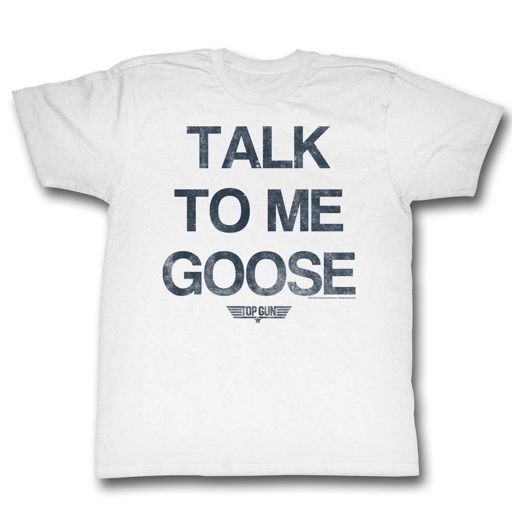 3a0da2f3da5 Top Gun T-Shirt Talk to Me Goose - NerdKungFu
