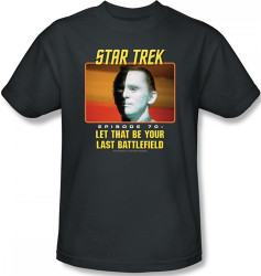 Image Closeup for Star Trek Episode T-Shirt - Episode 70 Let That Be Your Last Battlefield