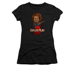Image for Child's Play Girls T-Shirt - Here's Chucky