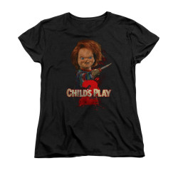 Image for Child's Play Woman's T-Shirt - Here's Chucky