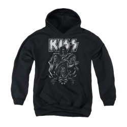 Image for Kiss Youth Hoodie - Skull